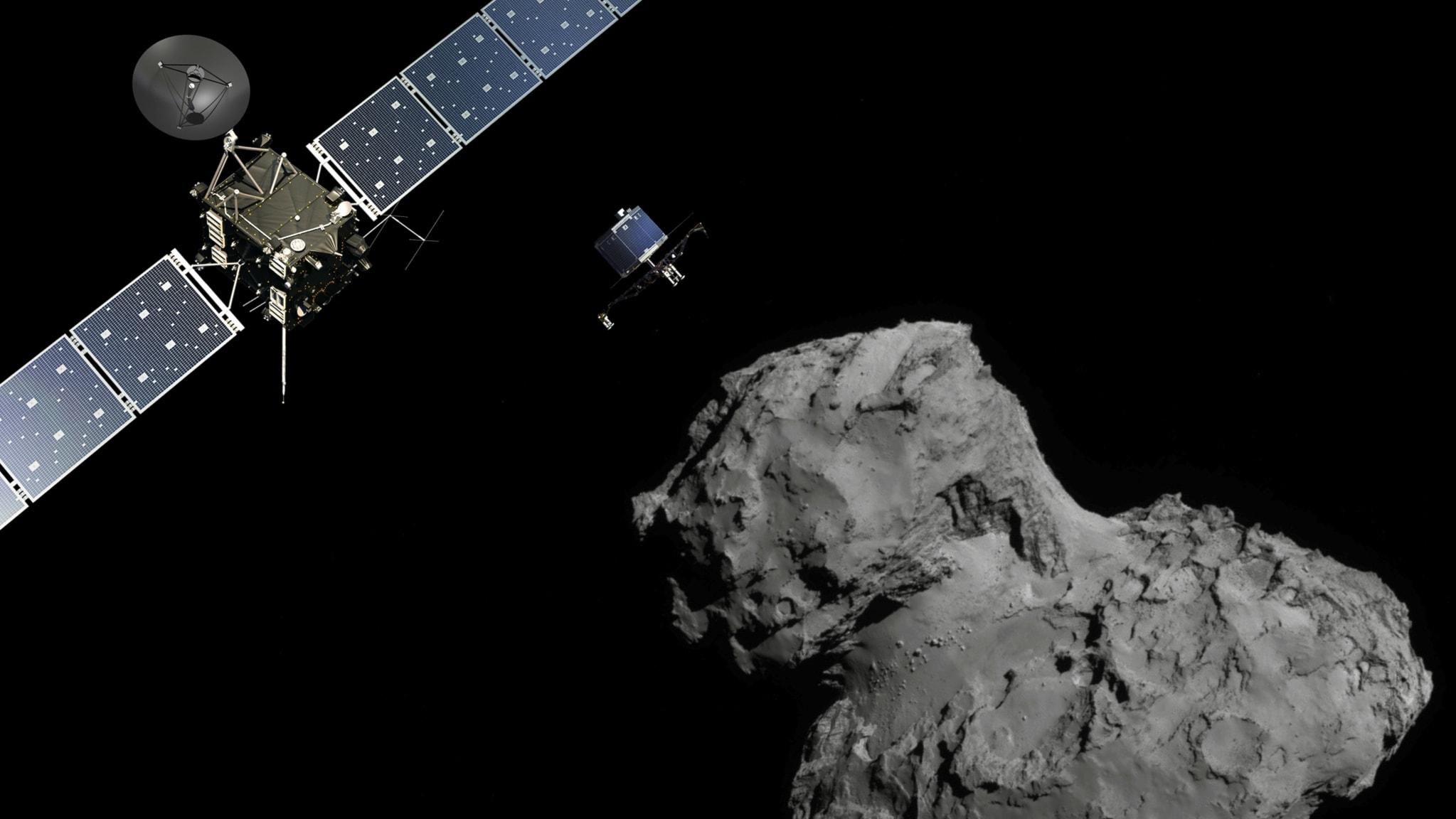 Rosettas överraskningar från kometen (R)