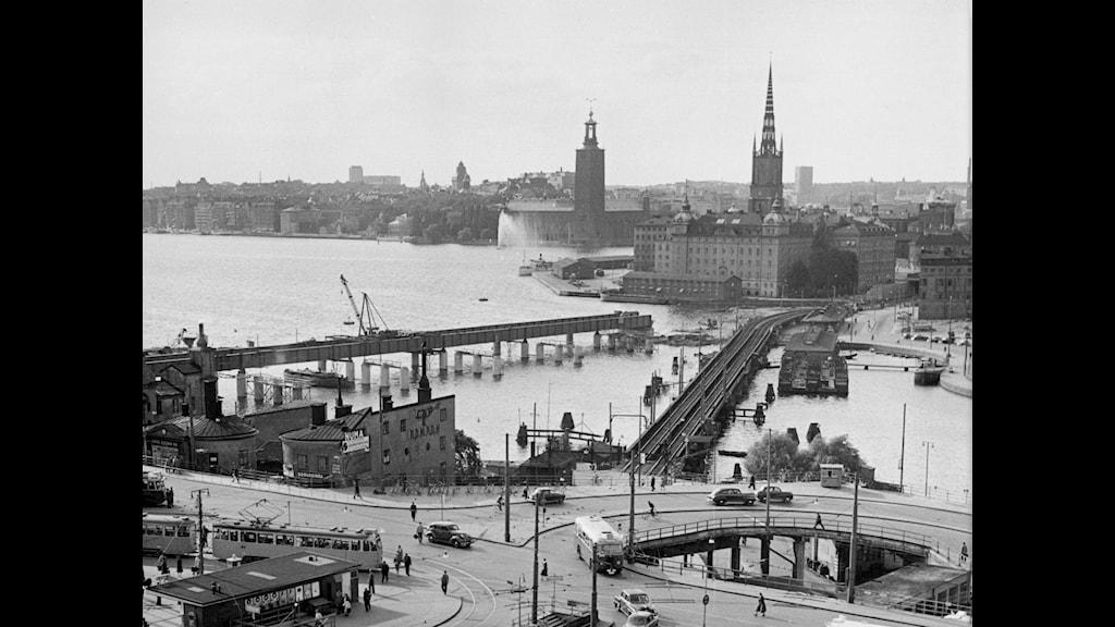 I nära 800 år har Slussen varit Stockholms knutpunkt. Foto: SVT Bild