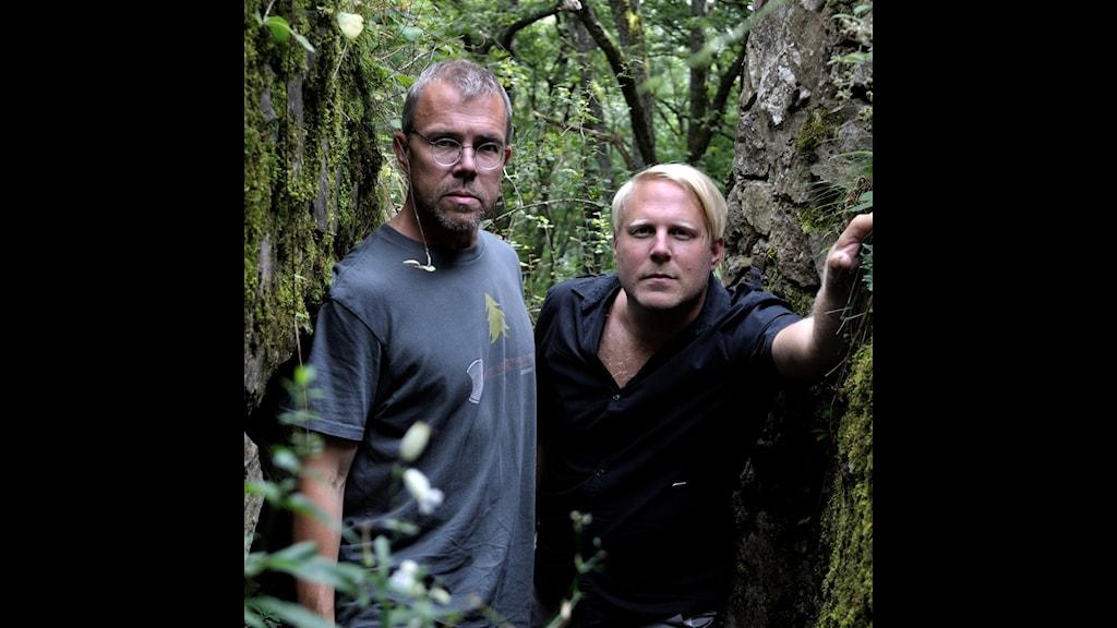 Nils Fabiansson och Tobias Svanelid i skyttegravarna i Hartmannswillerkopf. Foto: Nils Fabiansson