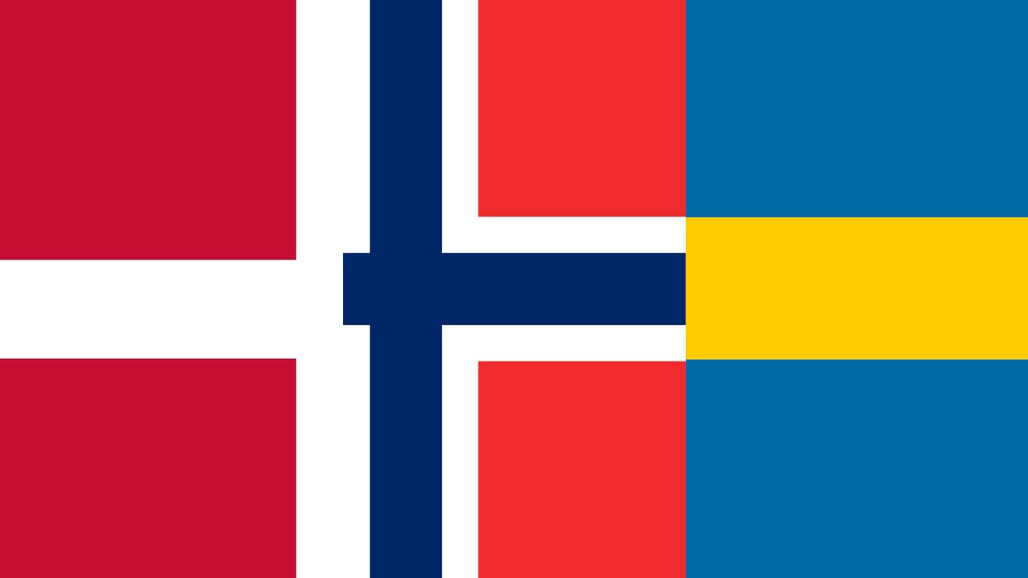 Norska + danska + svenska = sant