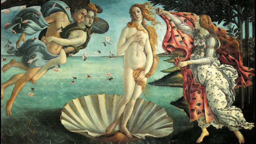 Venus Födelse, Botticelli. Foto: Wikimedia commons.