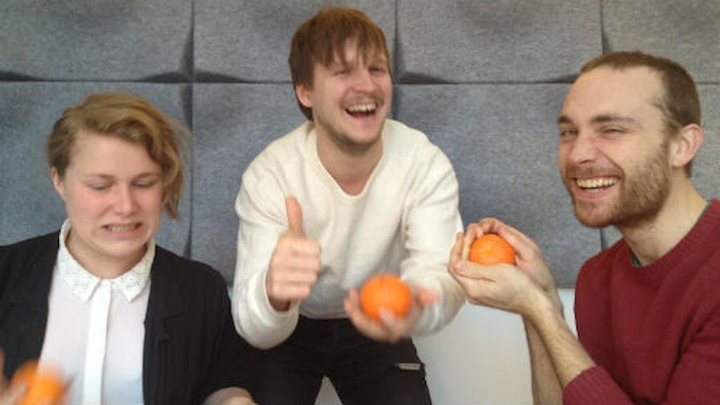 Karin Gyllenklev, Nils Svennem Lundberg och Jesper Rönndahl. Foto: Jakob Munck