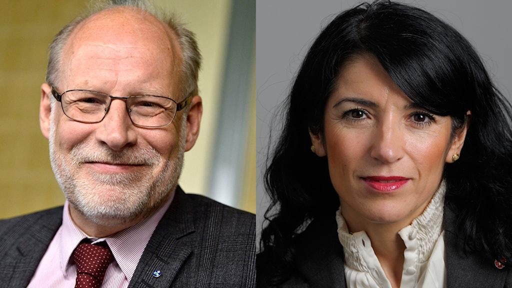 Stefan Attefall och Amineh Kakabaveh
