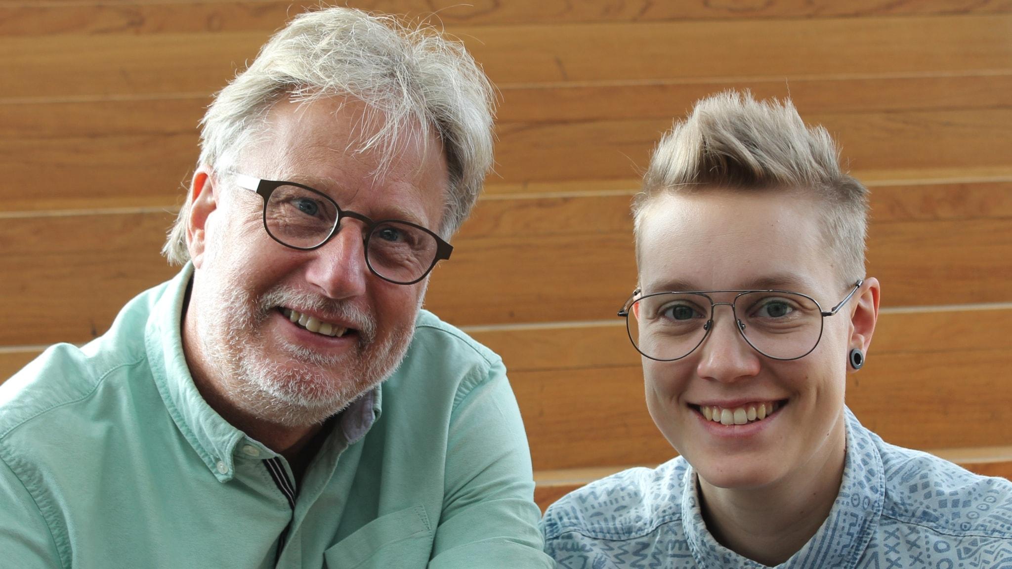 Med Lovisa Fischerström och Peo Wenander