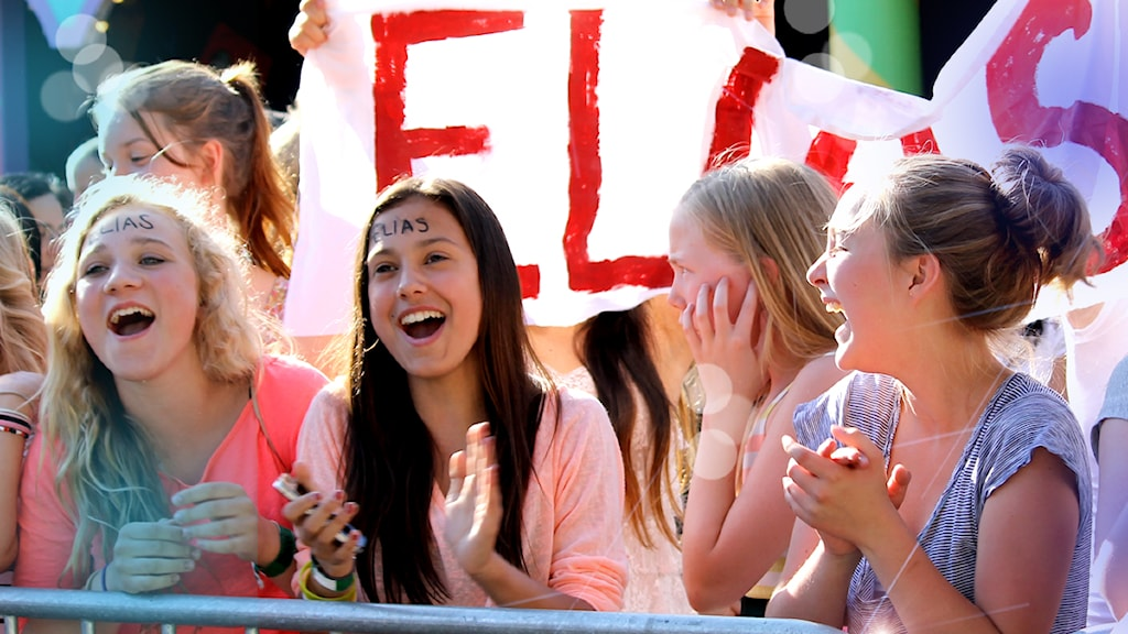 Elias fans i Lilla Melodifestivalen 2013, foto Stina Ericsson / Sveriges Radio