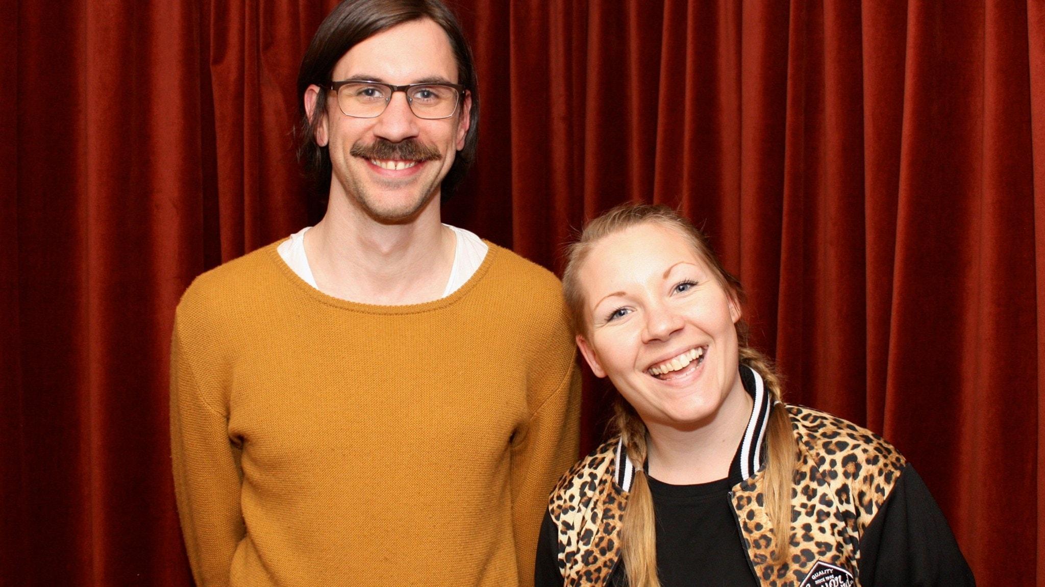 Filip Jers och Sanna Andersson