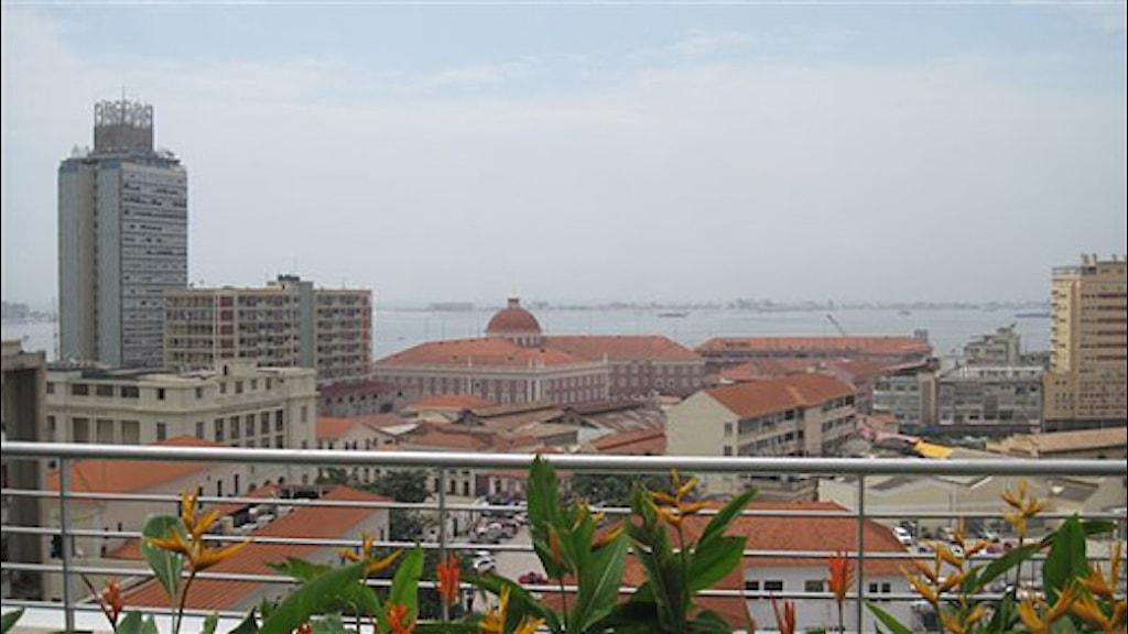 Vy över Luanda i Angola. Foto: Maria Sjöqvist/Sveriges Radio.