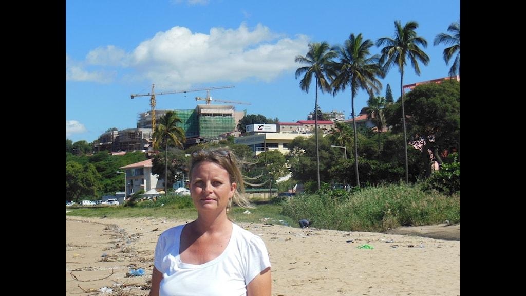 Maria Sjöqvist i Maputo.