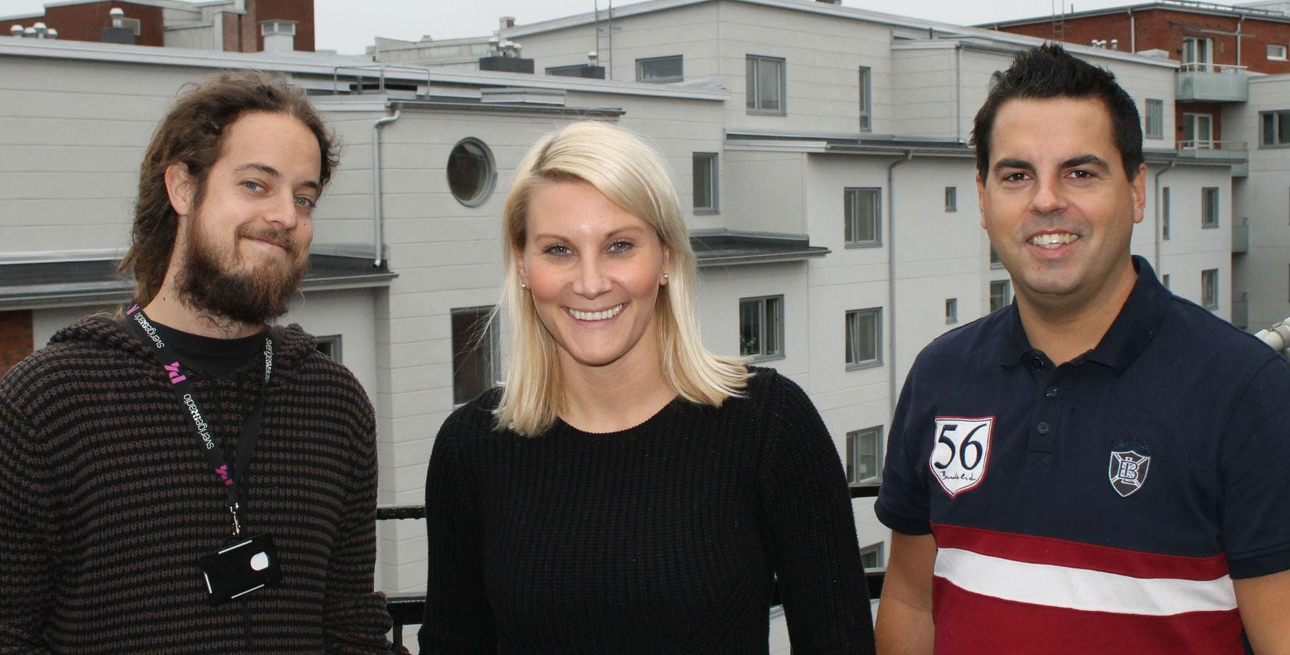 Med Anna Bergh, Fredrik Almryd och Andreas Svensson