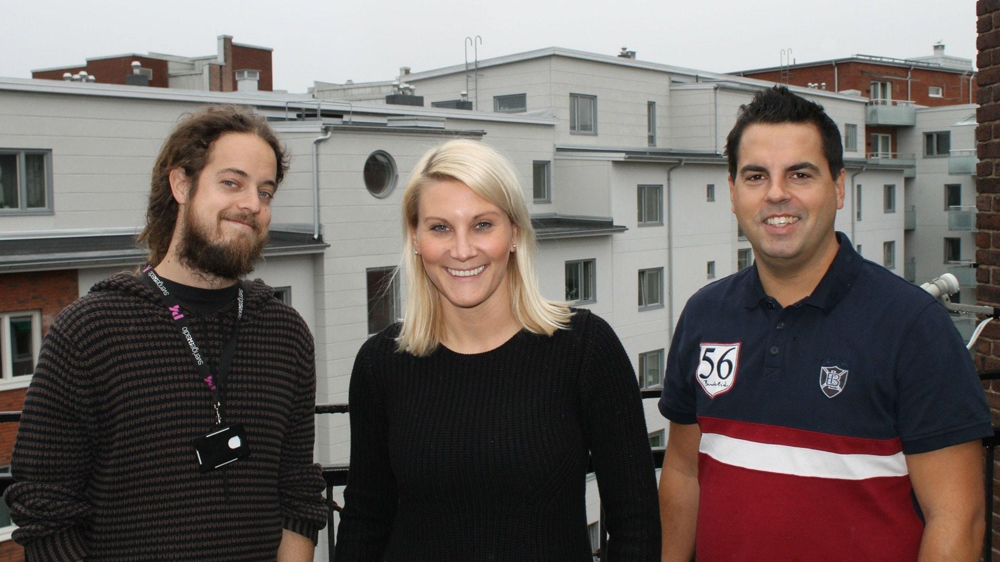 Med Anna Bergh, Per Qvarnstrom och Andreas Svensson