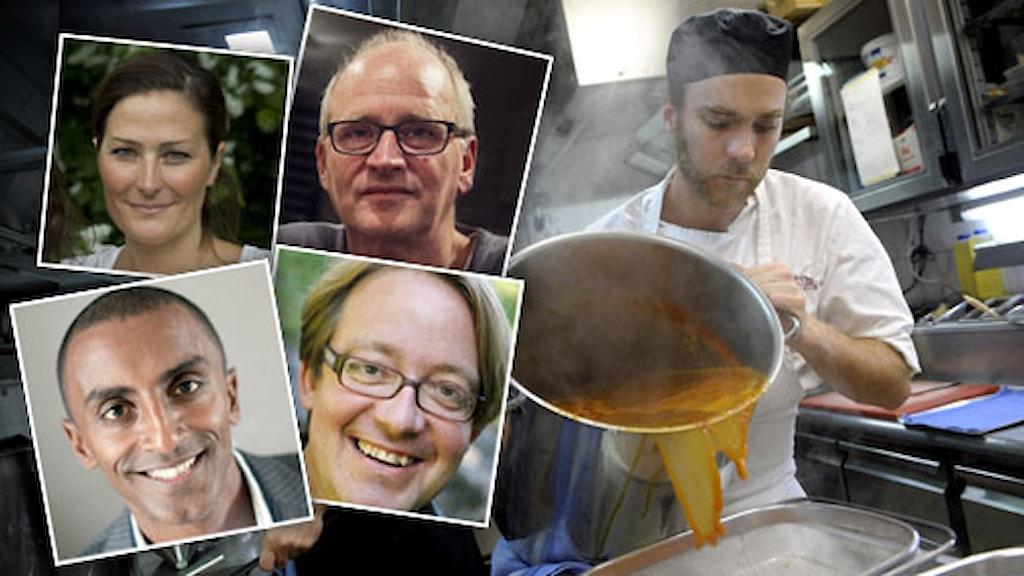 Monica Eisenman, Herman Koch, Marcus Samuelsson, Jens Linder. Foto: Scanpix.