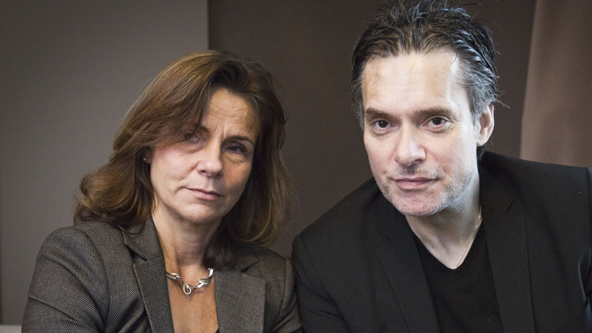 Katarina Hahr möter skådespelaren Thorsten Flinck