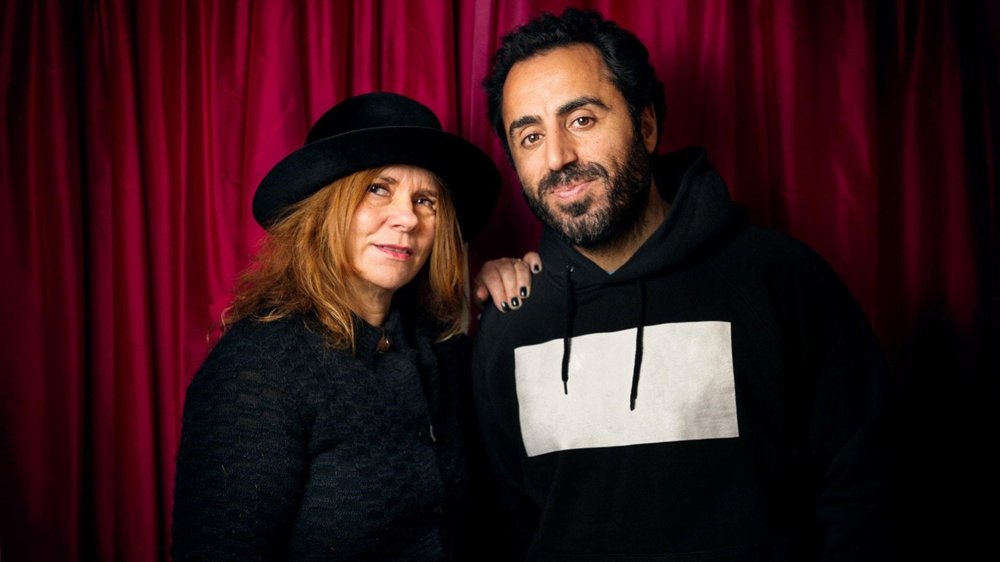 Katarina Hahr möter skådespelaren Özz Nûjen i ett  samtal om respekt