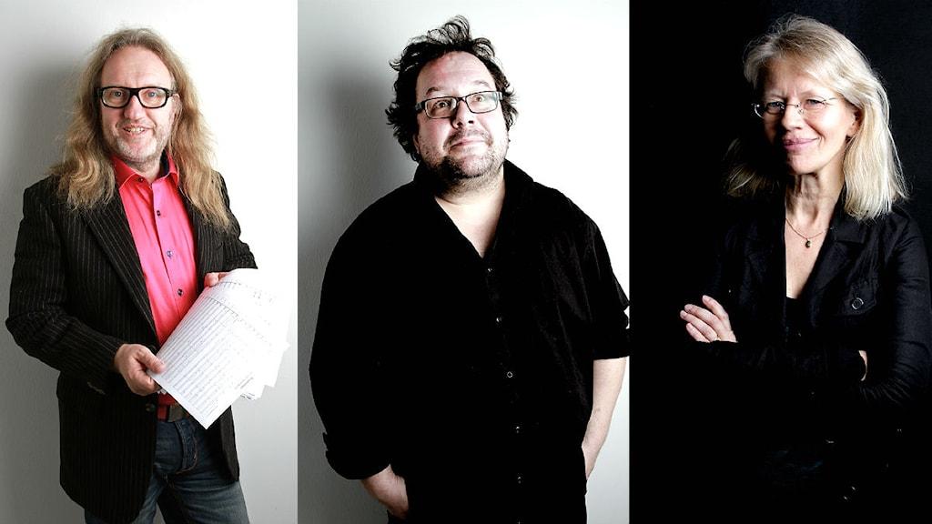 Kent Olofsson, Fredrik Högberg och Kim Hedås. Foto: Norrlandsoperan