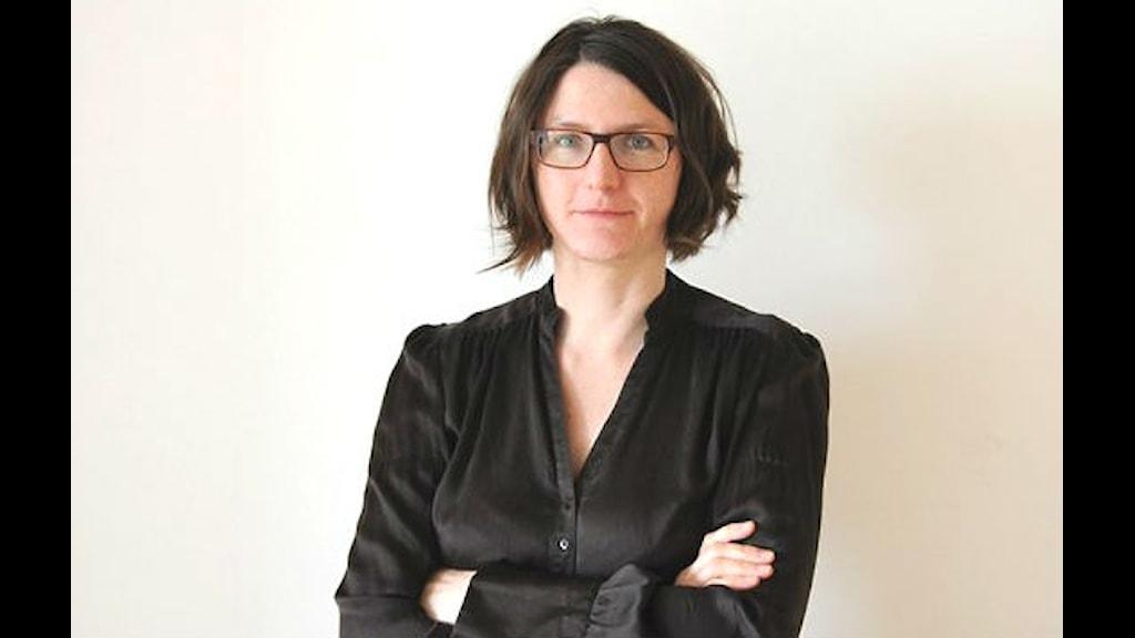 Sara Norling leder sändningarna från Beethoven & Beyond. Foto: Nicholas Ringskog Ferrada-Noli/Sveriges Radio