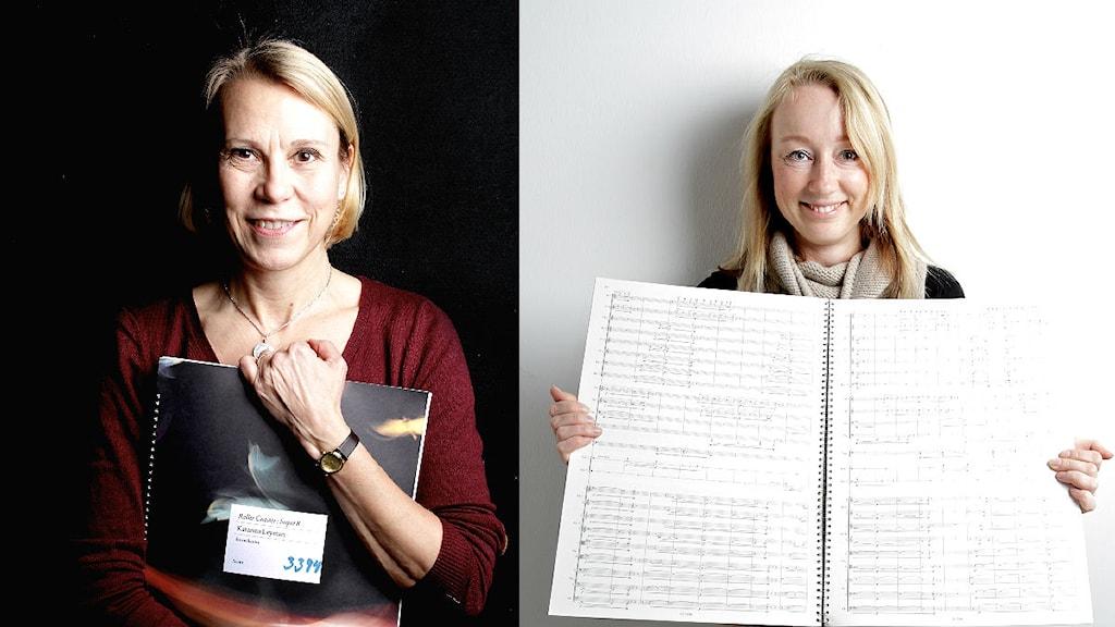 Katarina Leyman och Mirjam Tally. Foto: Norrlandsoperan