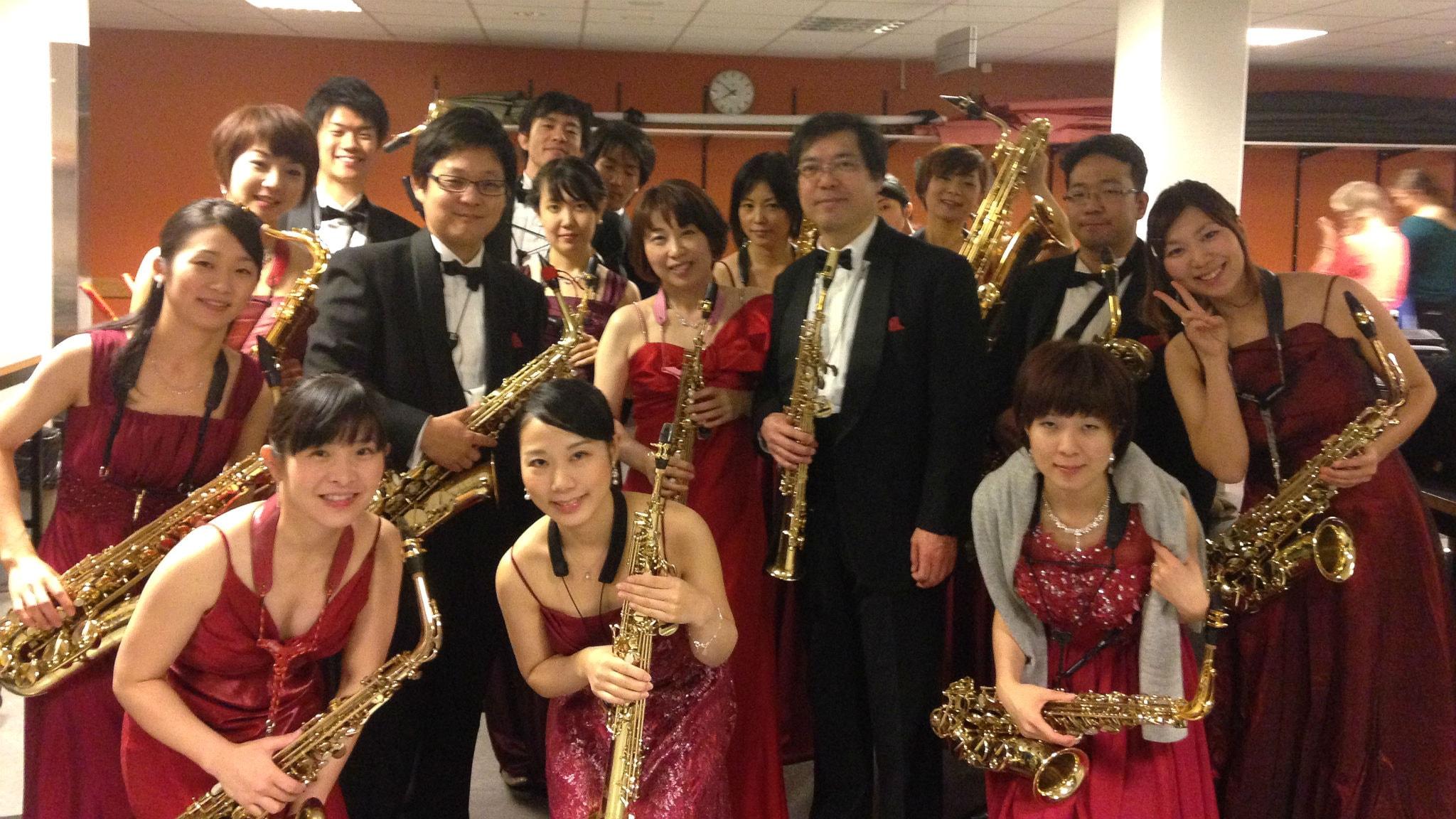 Den japanska saxofonensemblen Mi-Bémol