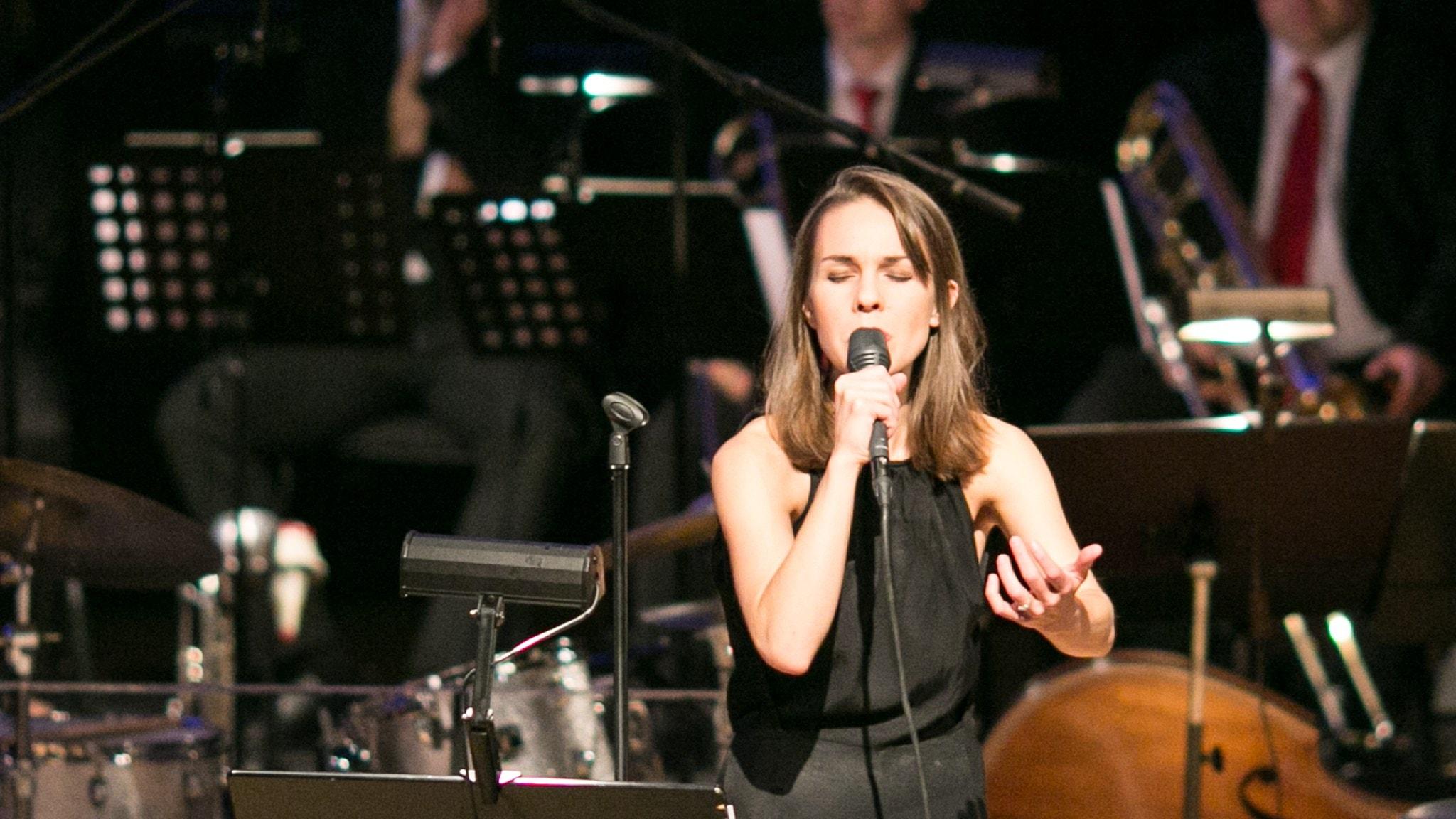 Från Umeå Jazzfestival: Isabella Lundgren och Norrbotten Big Band