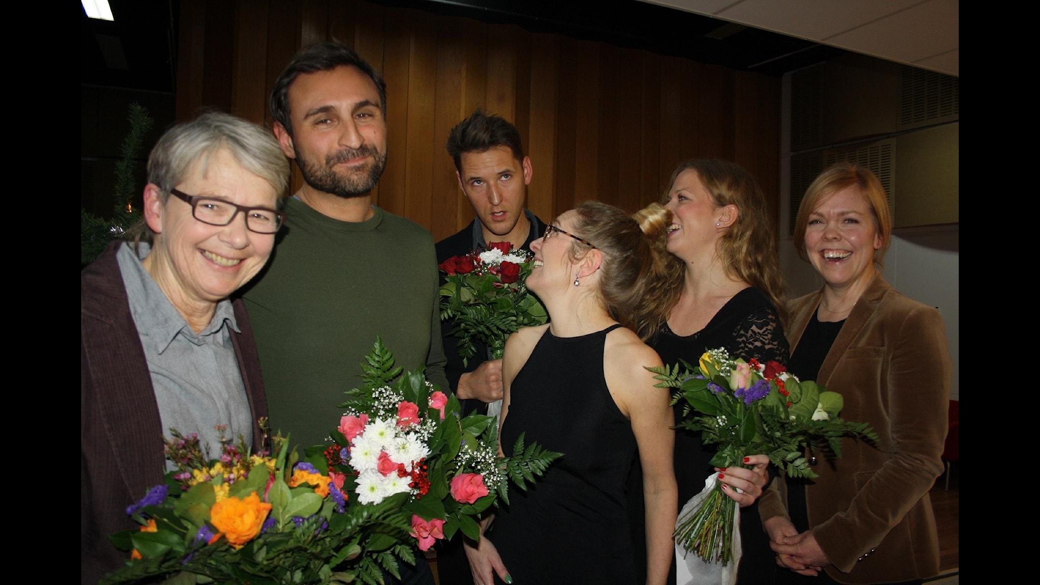 Johar Bendjelloul och Marianne Hasslow mot Caroline Lagergren och Hannes Fossbo