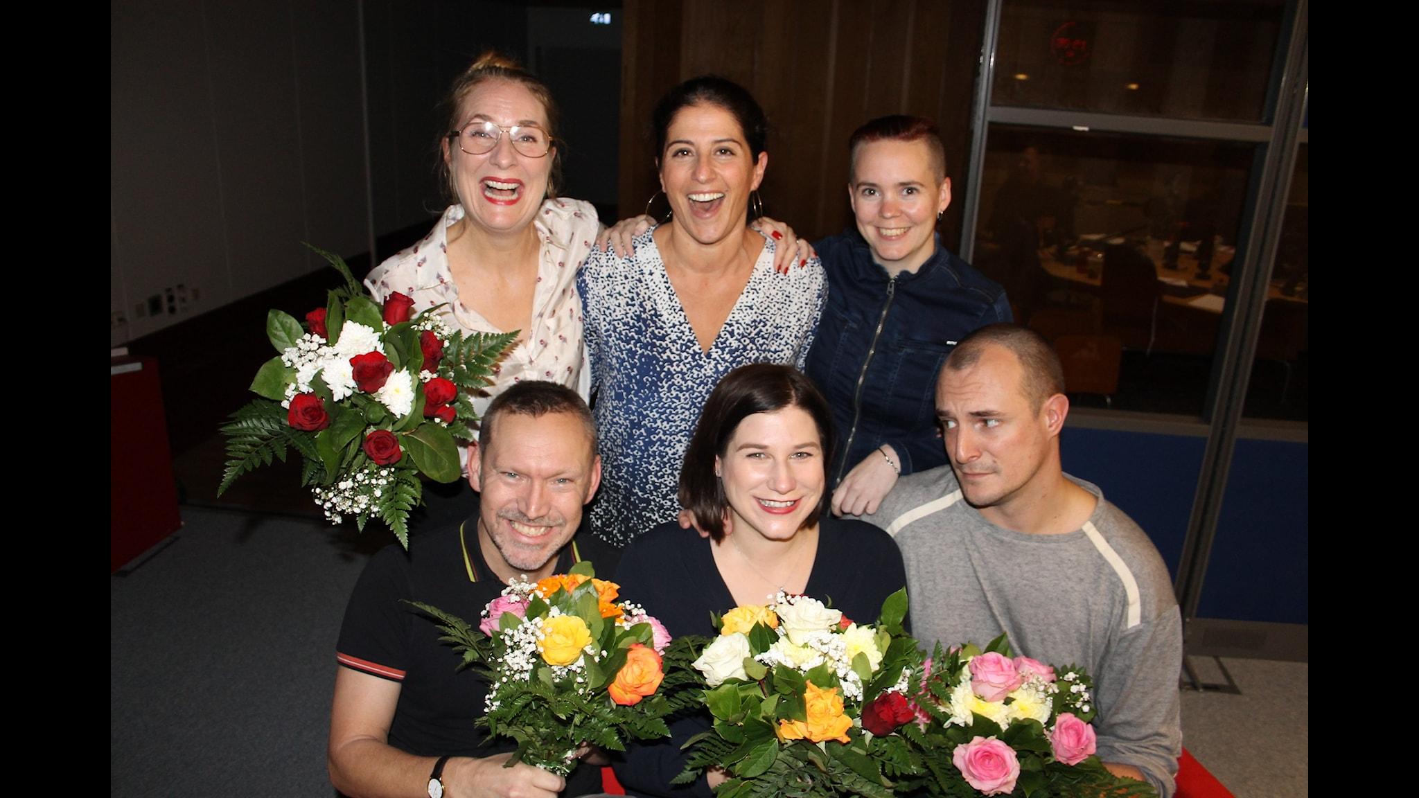 Johan Hilton, Kristin Lundell, Erik Helmerson och Dilsa Demirbag-Sten