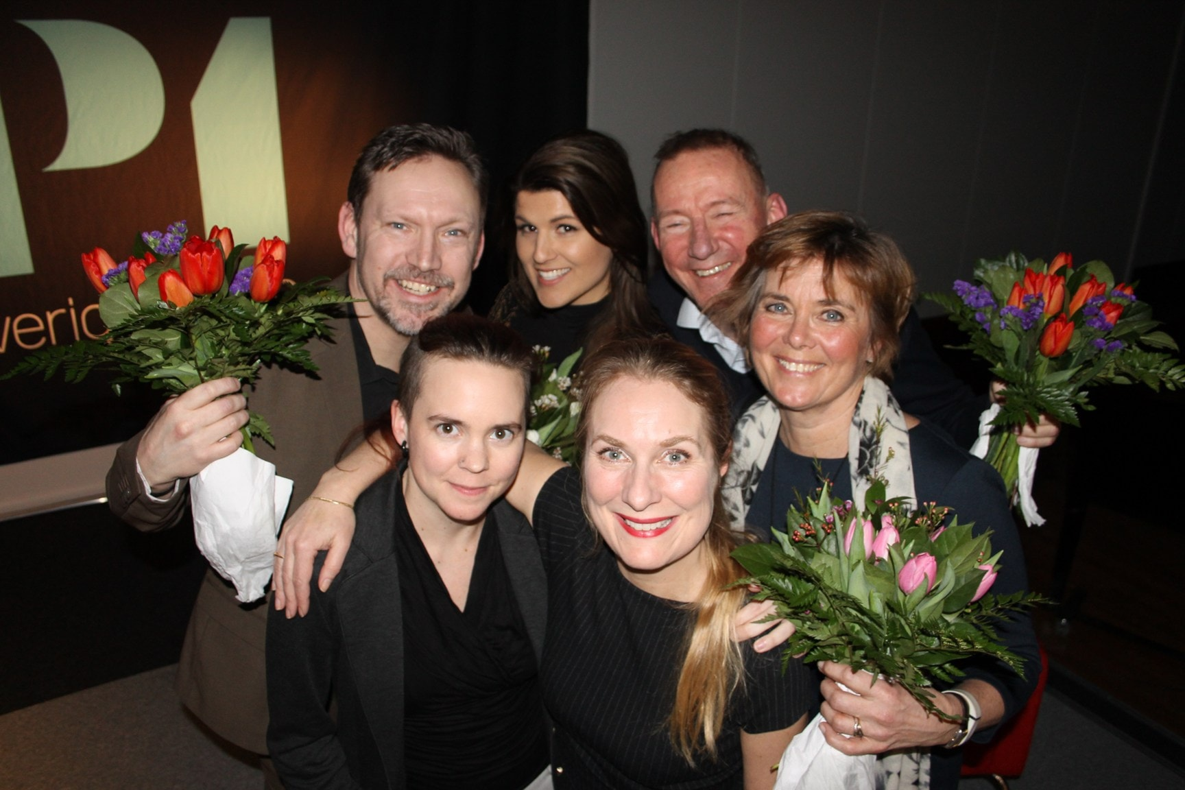 Lotta Bouvin-Sundberg, Pelle Sundberg, Erik Helmerson och Amanda Björkman!