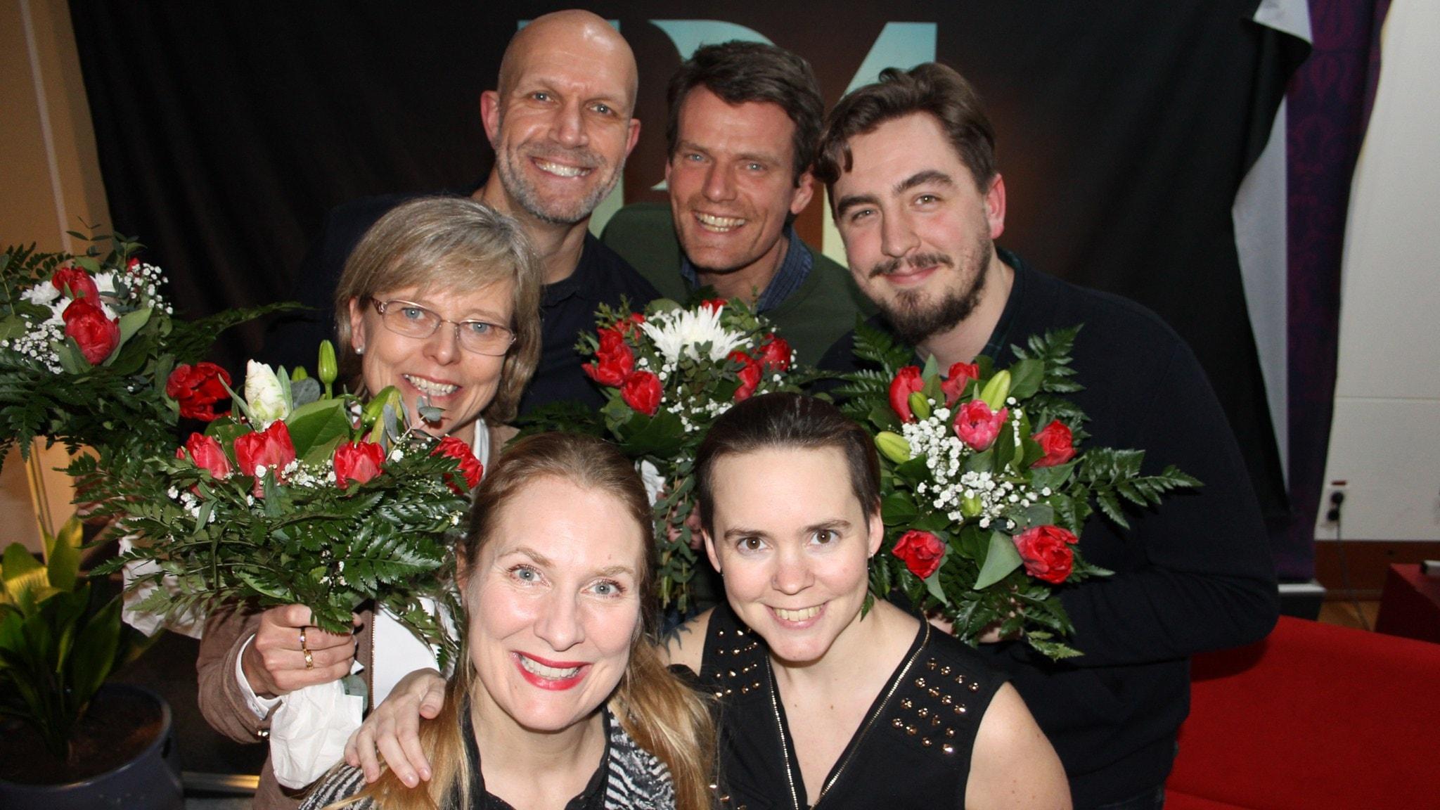 Henrik Hjelt, Mattias Konnebäck, Ingrid Carlberg och Jack Werner