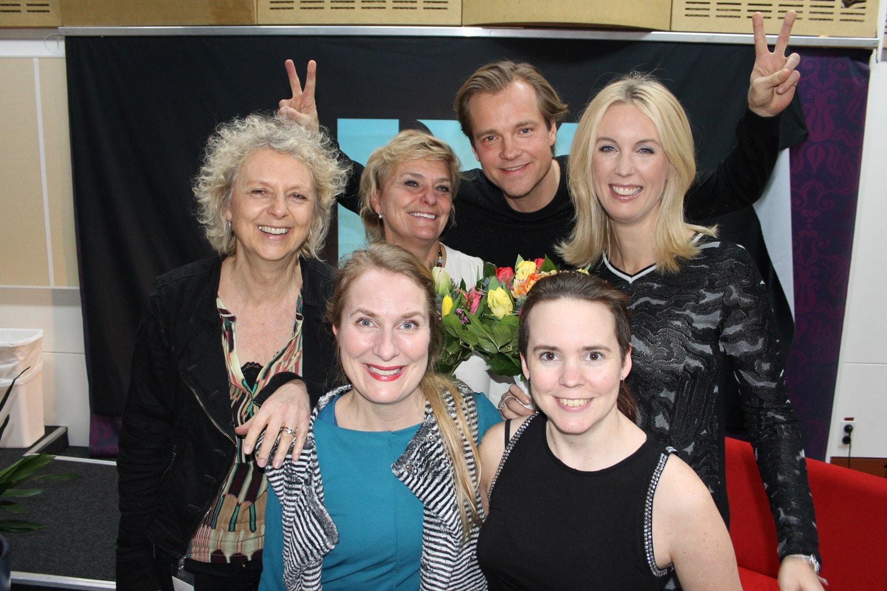 Jenny Strömstedt, Henrik Johnsson, Eva Landahl och Eva Hamilton!