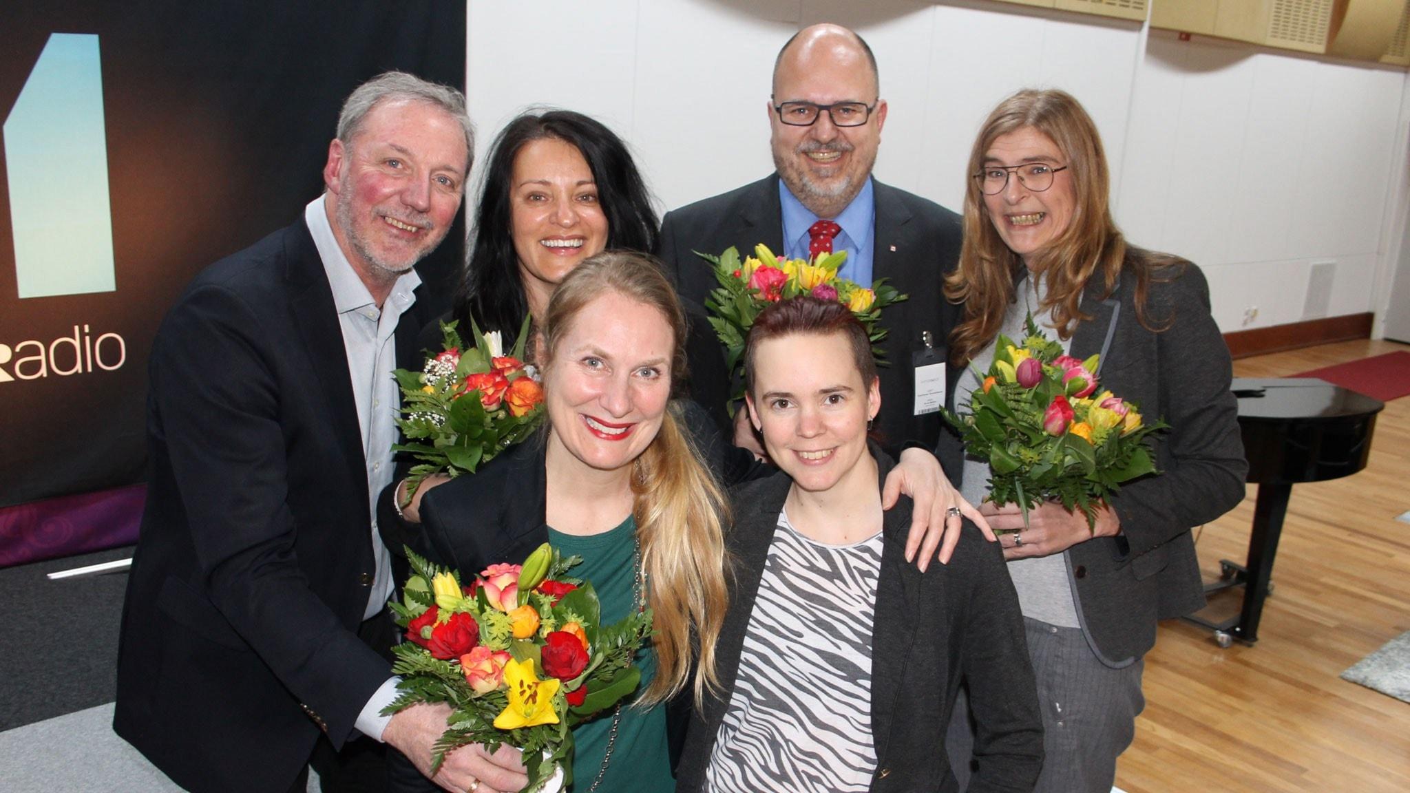 Karl-Petter Thorwaldsson, Therese Guovelin, Marie Söderqvist och Åke Svensson