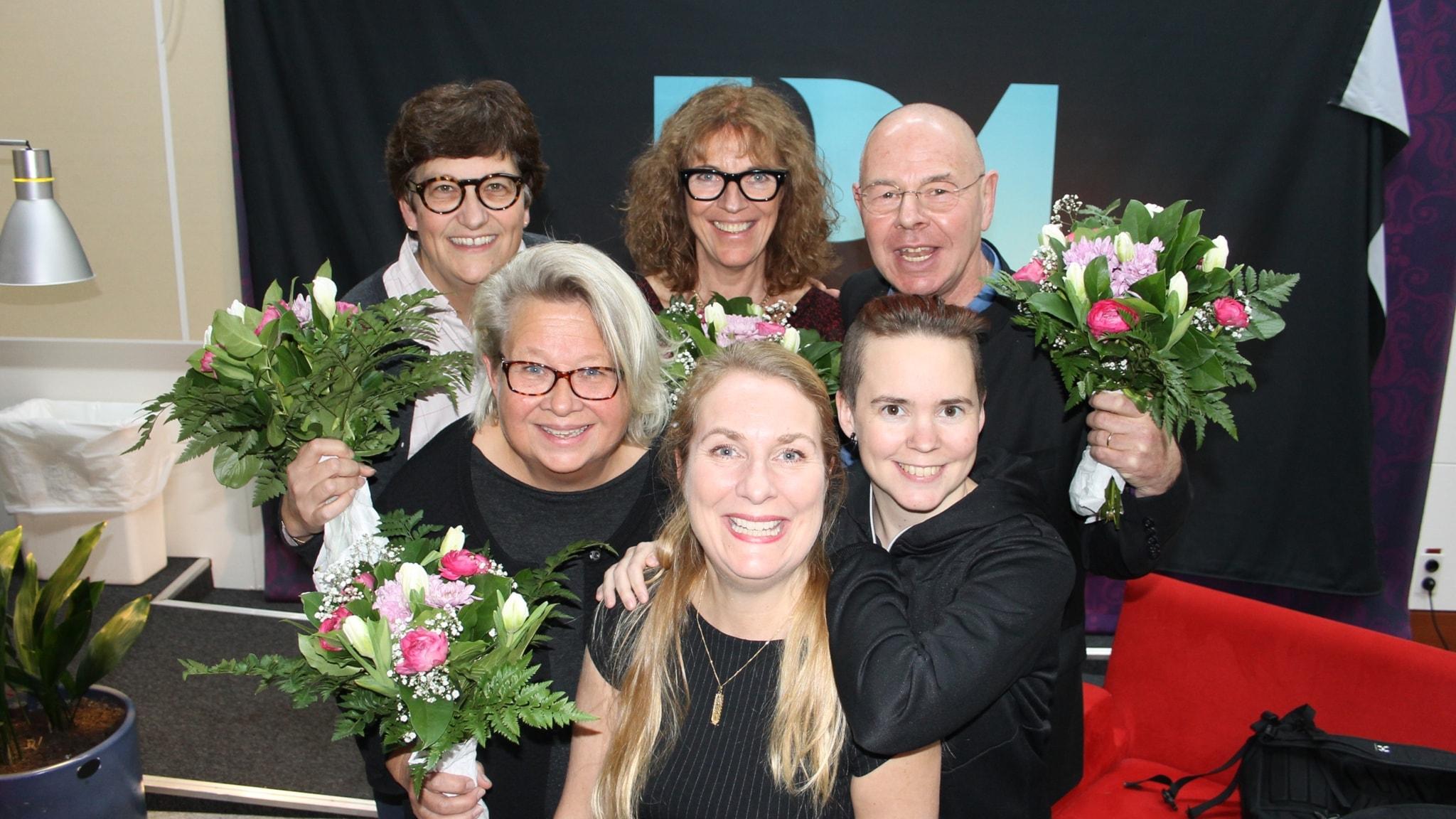 Margit Silberstein, Willy Silberstein, Helle Klein och Karin Lennmor