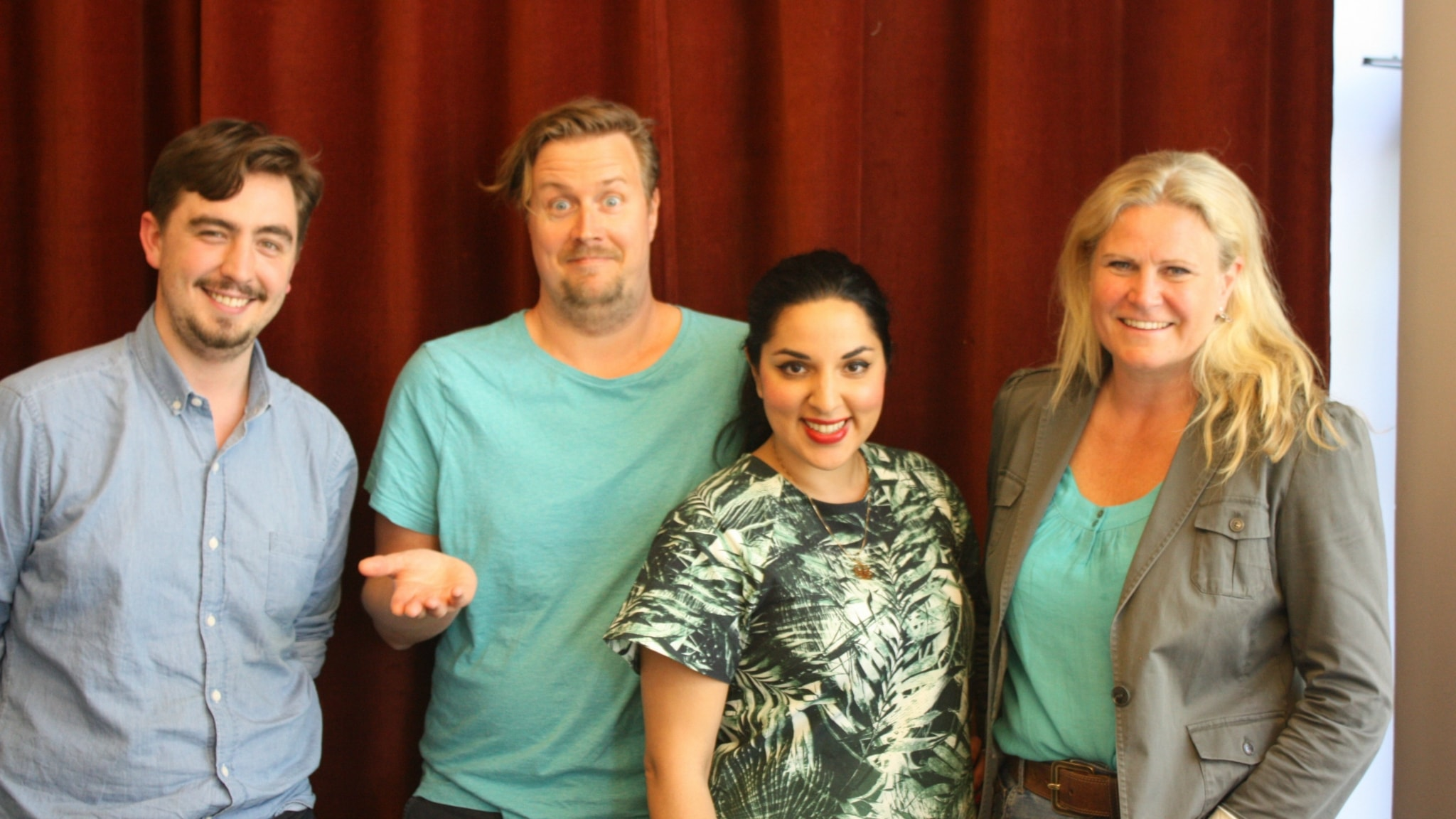 År 2014 - med Camilla Kvartoft, Tara Moshizi och Jack Werner!