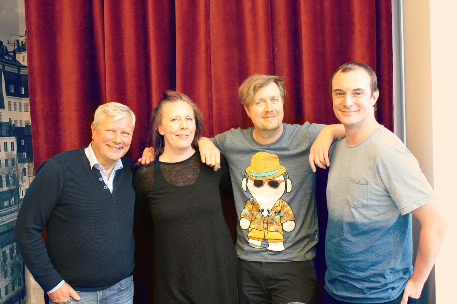År 1981 - med Johan Hilton, Martina Montelius och Lars Ohly!