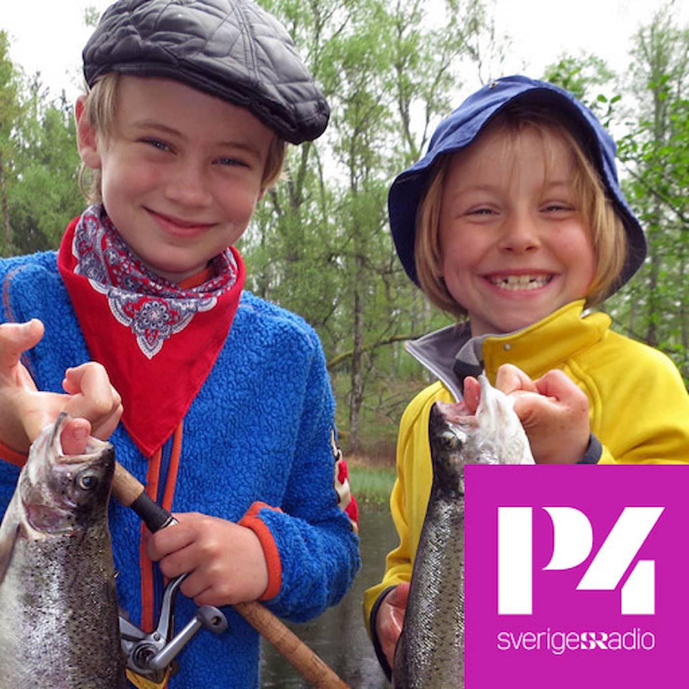 Viggo och Olga fiskar