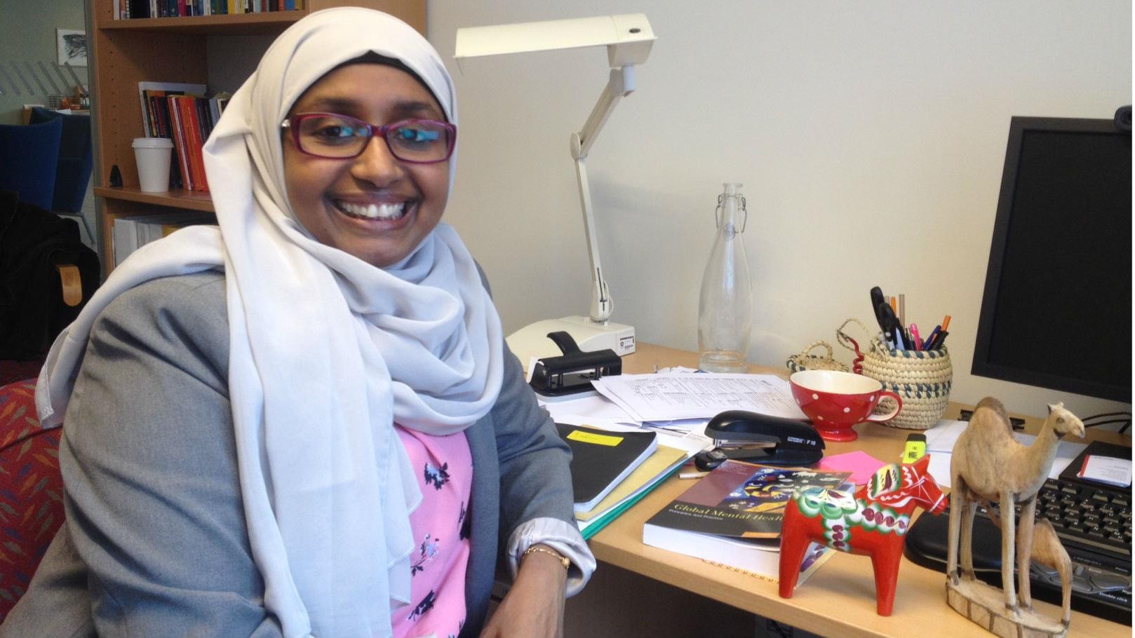 Fatumo Osman utbildar barnmorskor i Somalia - på distans från Falun