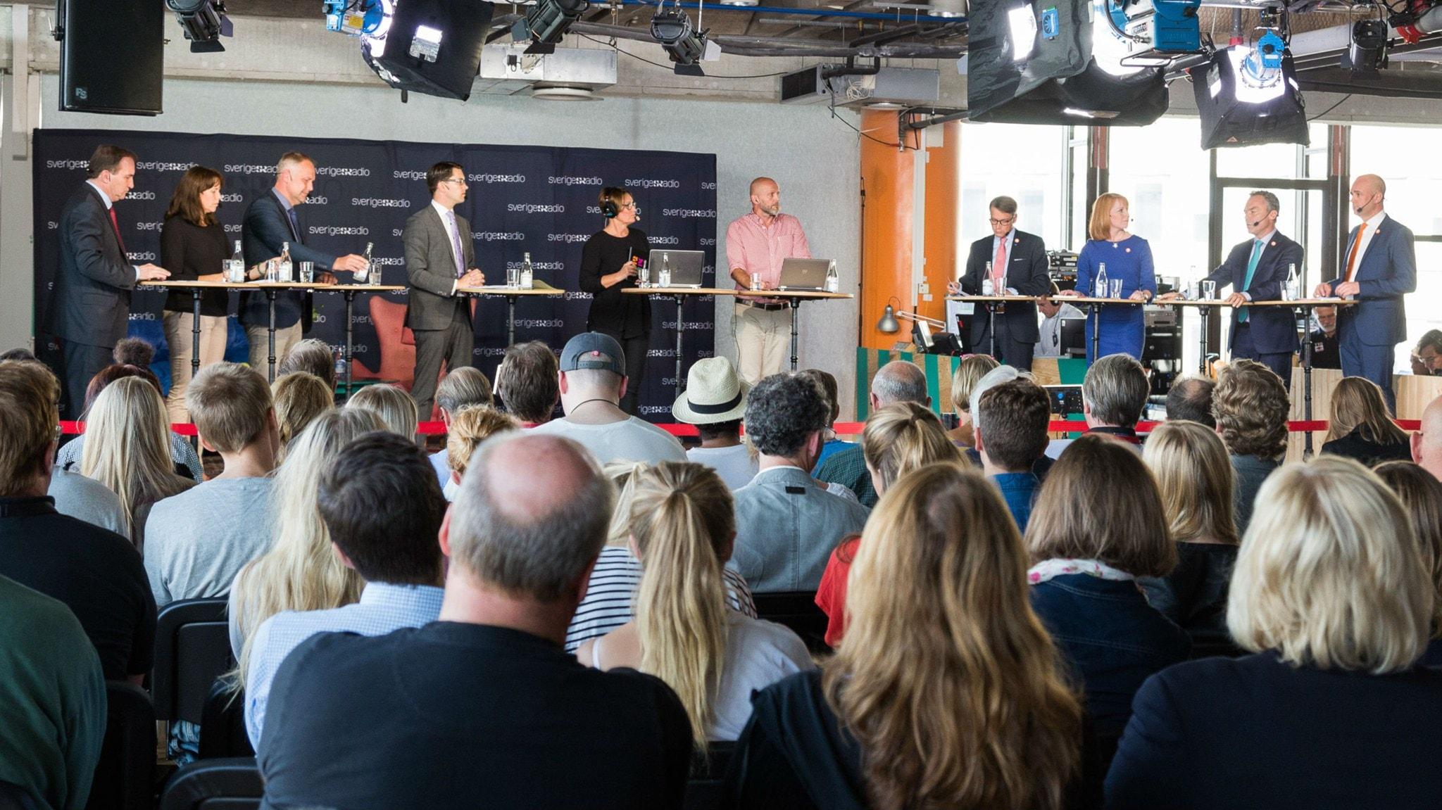 Partiledardebatt i P1 direkt från Kulturhuset