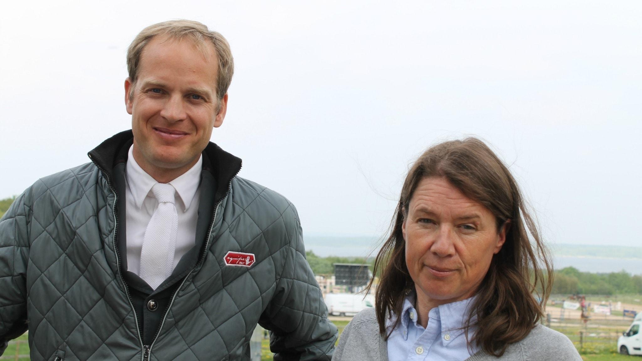 Unghästridning med Astrid Antonsson och Henrik Ankarcrona