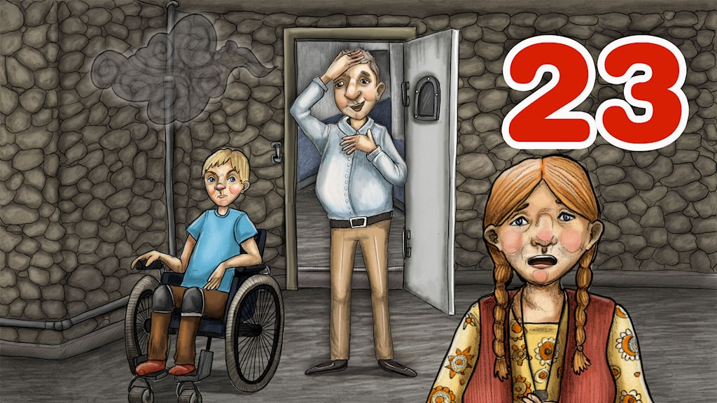 Julkalender 2014. High Tower AVSNITT 23. Illustratör: Anna Westin/SVeriges Radio AB
