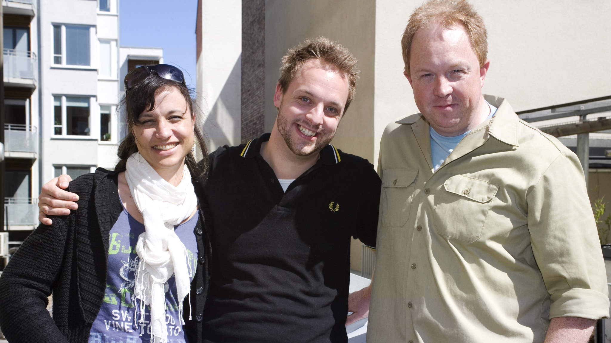 En trekant med Robin: Petra Mede och Anders Jansson