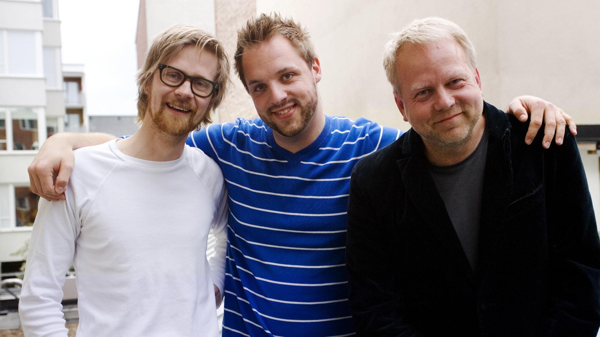"""En trekant med Robin: Anders """"Ankan"""" Johansson och Peter Apelgren"""