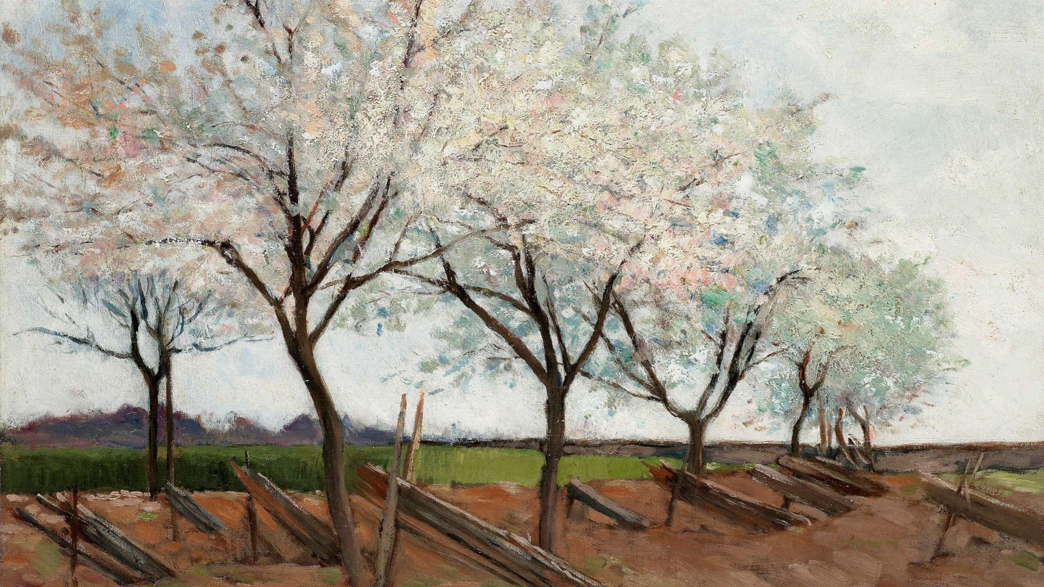 Bilden, blicken, Marie-Louise och träden