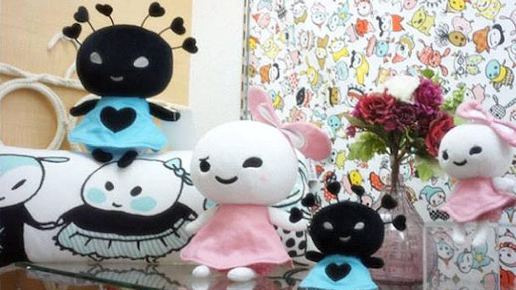 Stina Wirséns figur Lilla hjärtat säljs bland annat som dockor.