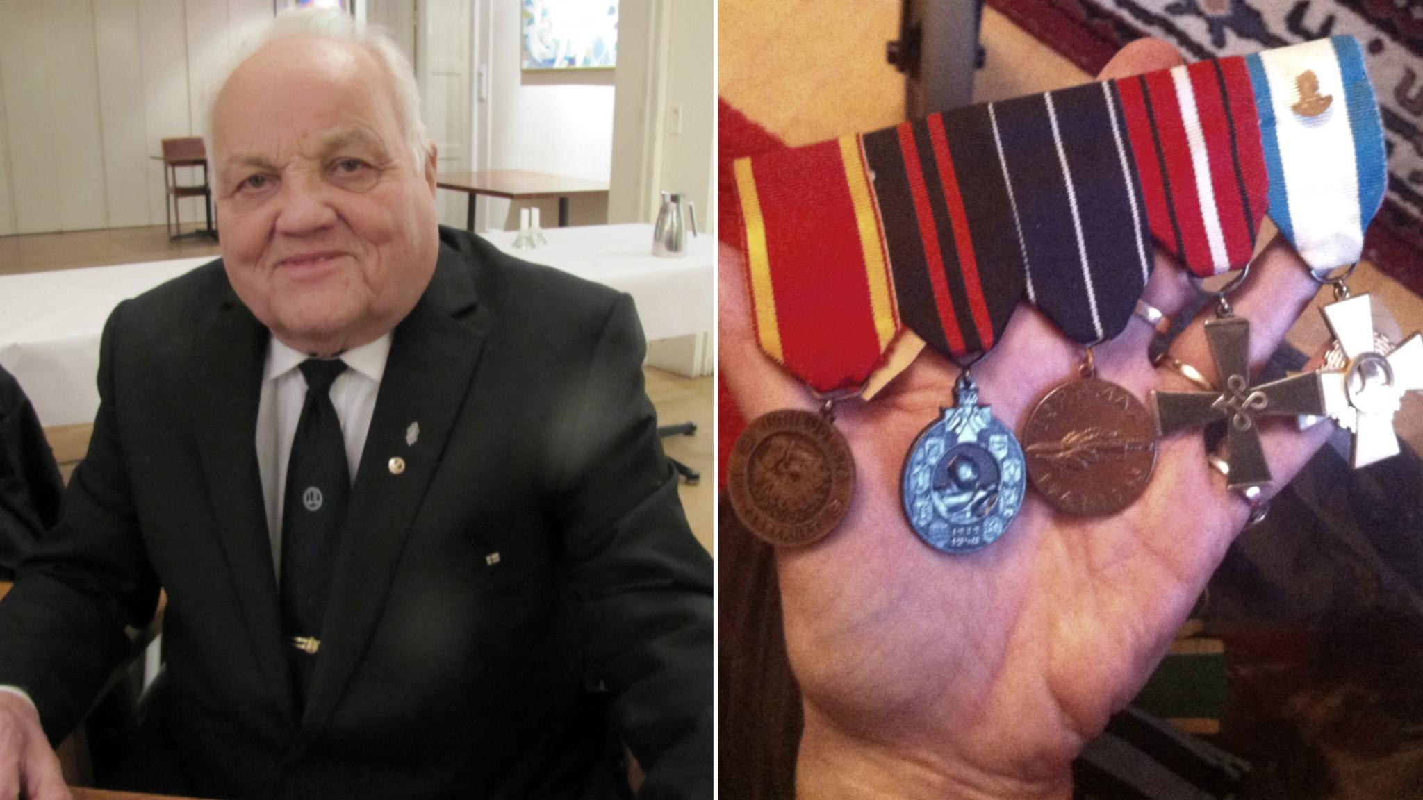 Jatkosodan veteraani Aapo Knaapi: Kranaatinsirpale muistona leuassa