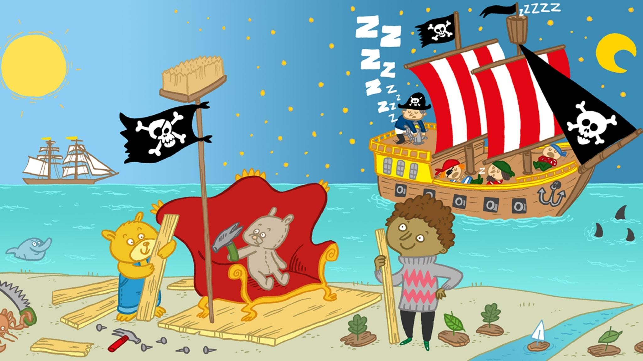 Sagotajm: Olle och sjörövarnallarna