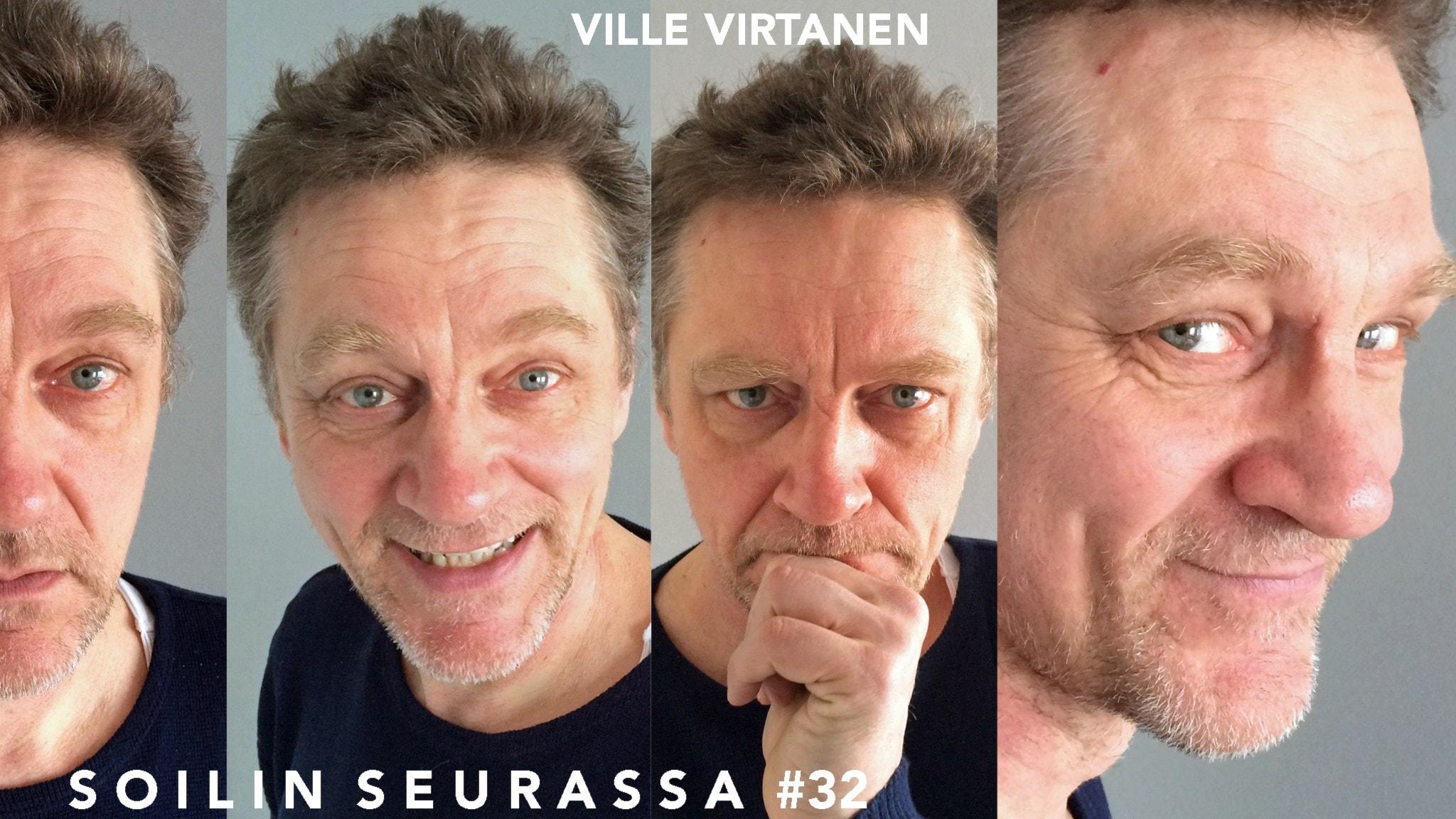 Soilin seurassa näyttelijä, kirjailija Ville Virtanen