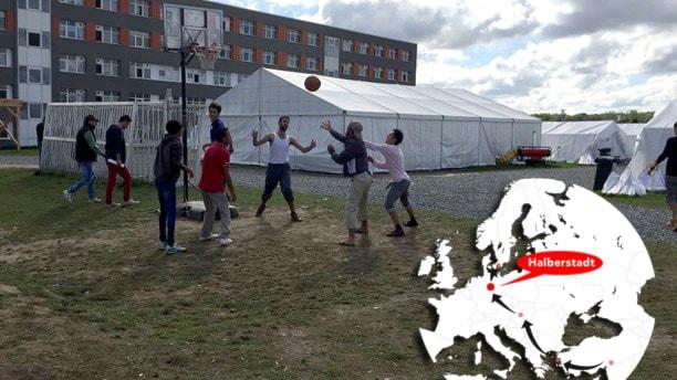 Tyskland: Språklektioner i tält fyllda av hopp