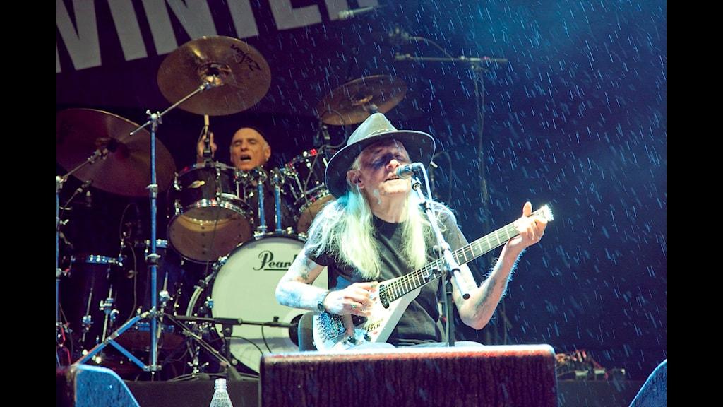 Johnny Winter på Sweden Rock 2009. Foto: Micke Grönberg/SR