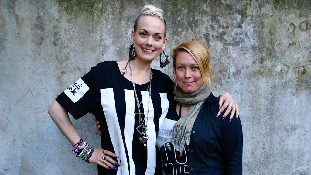 Jill tillsammans med Sanna Bråding