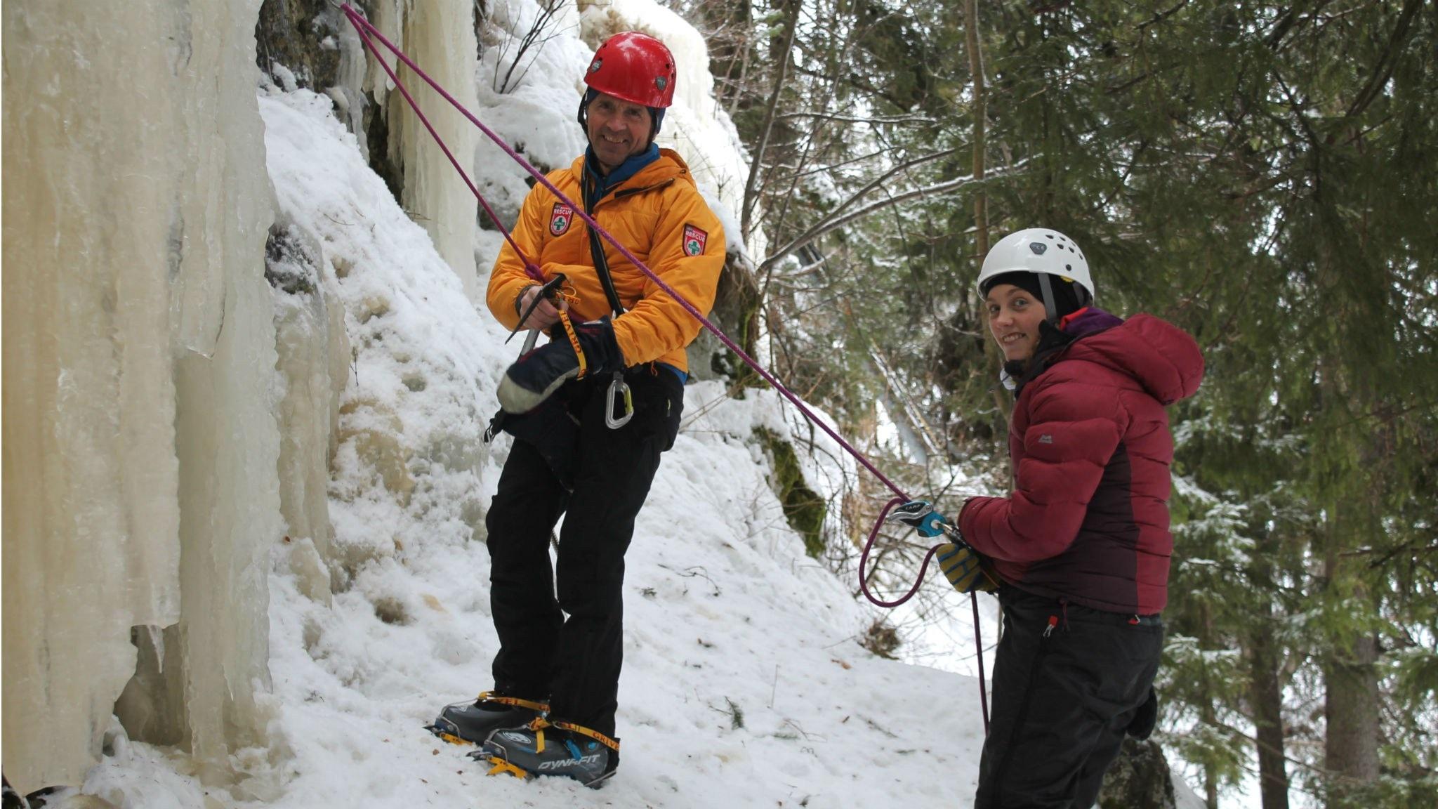 Att klättra på is och lyssnarnas egna friluftstips