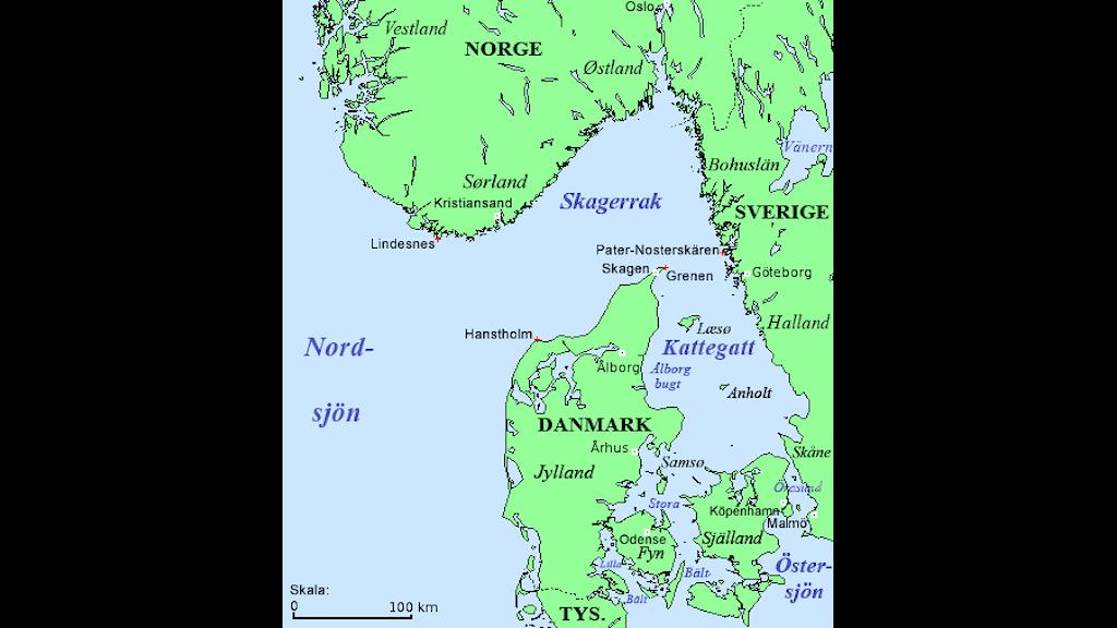 Kattegatt är havet mellan vårt grannland Danmark och det svenska landskapet i Halland.