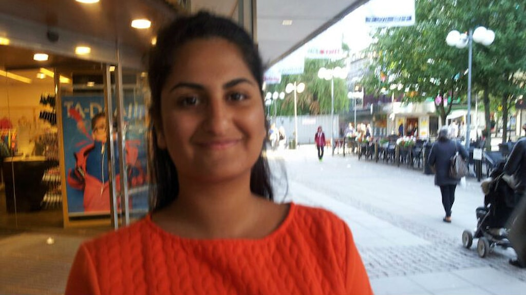 Det här är Ammani Naeim. Hon var en av dem som våra reportrar frågade om. Foto: Mattias Klefbeck.