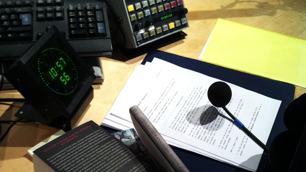 Romanpriset 2014 första mötet. Foto: Sveriges Radio.